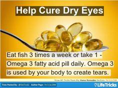 Home Remedies - Help Cure Dry Eyes