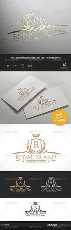 Royal Brand Logo Template #design #logotype Download: http://graphicriver.net/item/royal-brand-ii/8028700?ref=ksioks