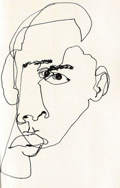 February James - Blind Contour Line Drawing