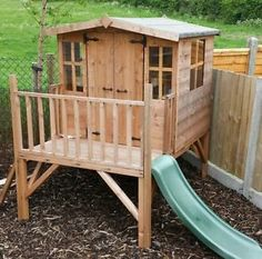 Bunny-tower-Playhouse-with-slide