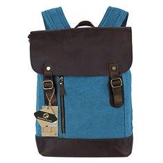 Koolertron - Moda mochila de cuero y lona con diseño casual para mujer / hombre (Azul--) Koolertron http://www.amazon.es/dp/B00JWG44BY/ref=cm_sw_r_pi_dp_uz66vb1ZFE8FV