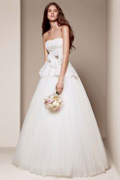 White by Vera Wang gown, available exclusively at David's Bridal