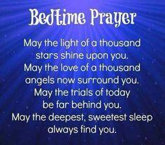 ✞❣ Bedtime prayer