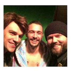 ICYMI: I give you the greatest selfie ever taken. James fucking Franco and Finn fucking Wittrock. and Tyler Labine who, fun fact: was in Rise of the Apes and Flyboys with James. James 3, James Franco, Finn Wittrock, Fun Facts, Handsome, Selfie, Actors, Couple Photos, Instagram