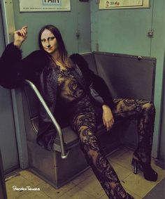 Amanda Wellsh Plays Dress up in the Subway for Vogue Portugal Photographer An Le captured the gorgeous Amanda Welsh in this editorial entitled 'Underground' for Vogue Portugal. In this special, closed to the public NYC train station, An Le, fashion editor Fashion Shoot, Editorial Fashion, Fashion Models, Dress Fashion, Vogue Editorial, Magazine Editorial, Vogue Fashion, Fashion Outfits, Mona Lisa