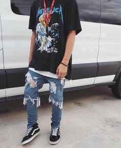 Streetwear daily Click this picture to check out our clothing label - Men Jeans - Ideas of Men Jeans Stylish Mens Outfits, Casual Outfits, Fashion Outfits, Stylish Clothes, Summer Outfits, Streetwear Mode, Streetwear Fashion, Mode Grunge, Mode Costume
