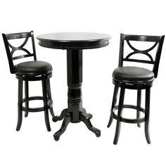 Boraam Florence Pub Table Set In Black