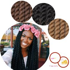 Aliexpress.com : Buy twist Fashion Havana Mambo Twist Crochet Pretwist Hair #1B,#2,#4  Havana Twist Crochet Braids Afro Extension Havana Mambo Twist from Reliable twisted red suppliers on crochet braiding hair extension Store Havana Mambo Twist Crochet, Crochet Twist, Crochet Braids, Havana Twist Hairstyles, Braided Hairstyles, Havana Braids, Havanna Twist, Braid In Hair Extensions, Afro