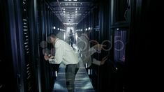 Time lapse of IT engineers working in a data centre - Stock Footage | by hotelfoxtrot