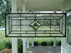 Beveled Star & Textured Clear Stained Glass Window Panel. $65.00, via Etsy.