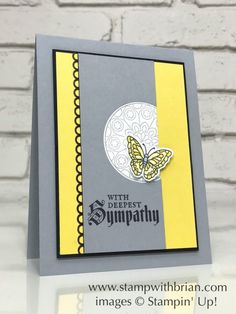 Painted Glass Bundle, Stampin' Up!, Brian King, GDP275, sympathy card