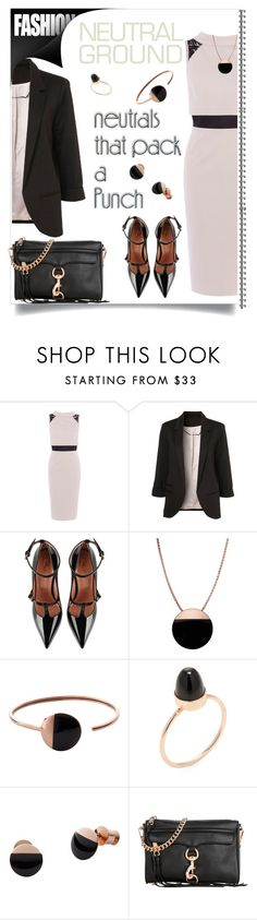 """punch"" by bonnie-wright-1 ❤ liked on Polyvore featuring Karen Millen, WithChic, RED Valentino, Skagen, Jacquie Aiche and Rebecca Minkoff"