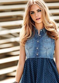 Платье из джинсовой рубашки