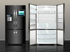 Different Types of Refrigerators - Great Home Appliances Online Design Moderne, French Door Refrigerator, Fixer Upper, Kitchen Appliances, Kitchens, Refrigerators, Shops, Home Decor, Refrigerator