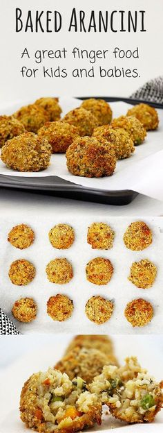 These baked arancini are great to make if you have left over risotto. They make a perfect finger food for baby-led weaning (blw) or for kids.
