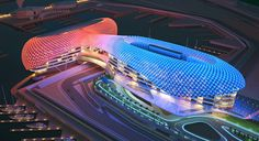 Amazing-Construction-Built-Over-F1-Racing-Track-Yas-Viceroy-Abu-Dhabi-Hotel-by-Asymptote-Architecture-Homesthetics