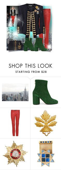 """""""NYFW"""" by interesting-times ❤ liked on Polyvore featuring Maison Margiela, Isabel Marant, Givenchy, Butler & Wilson and Versace"""