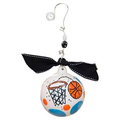Celebrate your little basketball star with this classic ceramic ornament, a festive decoration for your holiday tree.   Product: Orn...