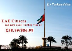 #turkeyevisa Visa fees for #UAE £58.99/$86.99 includes evisa-turkey-tr.org's service charge of £28 + #government fees