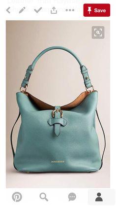 Smokey green Medium Buckle Detail Leather Hobo Bag - BURBERRY hobo purses and bags Hobo Purses, Hobo Handbags, Fashion Handbags, Fashion Bags, Purses And Bags, Ladies Handbags, Shoulder Handbags, Fashion Jewelry, Sacs Design