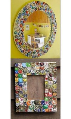 Coca cola diet coke handcrafted tile mosaic picture frame for Beer bottle picture frame