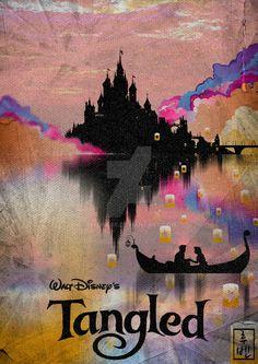Tangled ~ Minimal Movie Poster by Ruben ~ Disney Series Disney Films, Disney And Dreamworks, Disney Pixar, Walt Disney, Disney Rapunzel, Tangled Rapunzel, Tangled 2010, Princess Rapunzel, Disney Princesses
