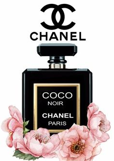 Chanel Noir Floral Gloss Print Perfume Poster - Unframed A4