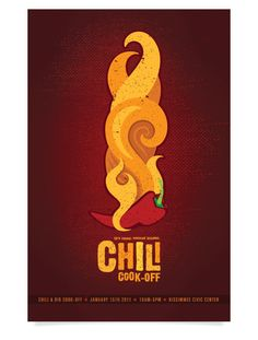 Chili Cook-Off Poster by Jessica Wuller, via Behance