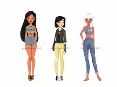 Modern Disney Princess 3 by Psycho-Knight on DeviantArt