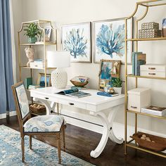 Browse home office furniture and find stylish office decor and furniture today! Shop home office furniture at Ballard Designs. Home Office Space, Home Office Design, Home Office Decor, House Design, Office Ideas, Office Inspo, Ceo Office, Interior Office, Office Style