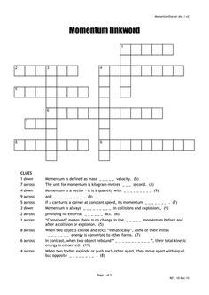 Genetics crossword puzzle 12 clues with word bank and an image result for momentum crossword puzzle malvernweather Gallery