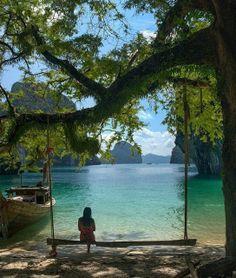 Peaceful Setting at Krabi, Thailand,
