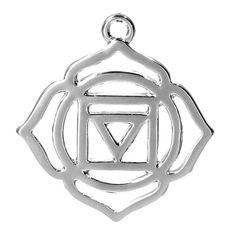 7 Chakra Pendants Charms Silver Tone Muladhara by ChezChaniSupply