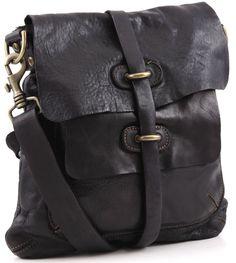 Campomaggi Lavata shoulder bag leather black 28 cm - C1256VL 2000 - Designer Bags Store - wardow.com