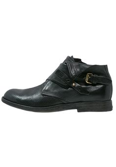 Mens Retro Ankle Boots Leather Brogue Block Heels Motorcycle Shoes Side Zip K631