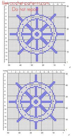 A rudder free simple crochet filet pattern insert – free filet crochet patterns… – Değiştiriniz Filet Crochet, Graph Crochet, Crochet Lace Edging, Crochet Motifs, Crochet Cross, Crochet Squares, Easy Crochet, Geek Cross Stitch, Cross Stitch Patterns