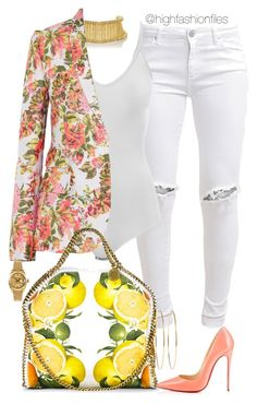 """Lemonade"" by highfashionfiles ❤ liked on Polyvore featuring FiveUnits, Alexander McQueen, Intimissimi, STELLA McCARTNEY, Christian Louboutin, Jennifer Meyer Jewelry and Rolex"