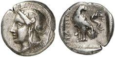 AR Drachm. Greek Coins, Italy, Crete, Itanos. Circa 300-280 BC. 5,23g. BMC 13. VF. Price realized 2011: 600 USD.