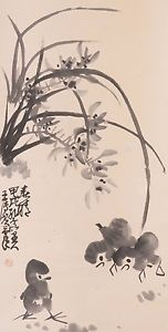 Check out Chinese hanging scroll Chick painting Antique wall art hs0728  http://www.ebay.com/itm/Chinese-hanging-scroll-Chick-painting-Antique-wall-art-hs0728-/112027397419?roken=cUgayN&soutkn=iQj7pS via eBay