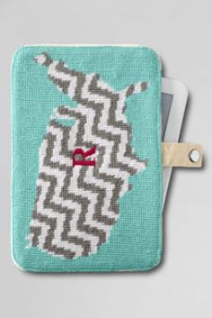 USA Map Needlepoint Kindle/Nook/iPad Case from Lands' End
