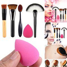 Makeup Brushes Cosmetic Kits Makeup Blush Foundation Brushes Sponge Puff Large Fan Contour Brushes 5 pcs Cosmetic Brushes, Makeup Brushes, Professional Makeup, Makeup Tools, Foundation, Make Up, Lipstick, Beauty, Lipsticks