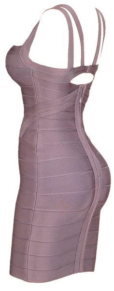 'Sophie' Taupe Bodycon Bandage Dress