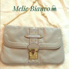 Melie Bianco Gray chain strap purse Melie Bianco Great, chain – strap purse now I'll be last. Some signs of wear on the back. Cute dotted interior, several pockets inside. Melie Bianco Bags Totes