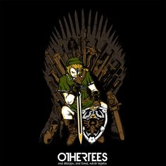 """""""Game of Blades"""" by zerobriant Shirt on sale until 07 June on othertees.com Pin it for a chance at a FREE TEE! #gameofthrones #legendofzelda #loz"""