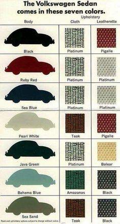 Color e interiores de VW