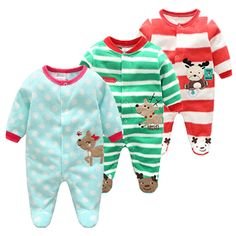 Cotton Fleece Christmas Baby Romper With Festive Design.     Tag a friend who would love this!     Buy one here---> https://littleunsonline.com/shop/cotton-baby-rompers-christmas-baby-boy-clothes-newborn-clothing-spring-baby-girl-clothes-roupas-bebe-infant-baby-jumpsuits/