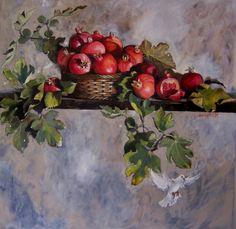 Diana Watson Wall paper Vivace Watercolor Fruit, Fruit Painting, Watercolor Paintings, Pomegranate Art, Oil Painting Pictures, Still Life Art, Fruit Art, Australian Artists, Painting Inspiration