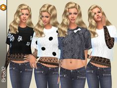 The Sims Resource: Winter short sweater and lace top by Birba32 • Sims 4 Downloads Check more at http://sims4downloads.net/the-sims-resource-winter-short-sweater-and-lace-top-by-birba32/