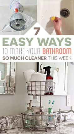 This week, tidy up your bathroom.
