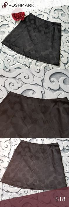 """Black Polka Dot A-Line Skirt Size 7/8 Lined Maurices Black Polka Dot A-Line Skirt Size 7/8 Lined  Measurements: Waist: 31"""" Length: 19.5""""  Flower not included Maurices Skirts A-Line or Full"""